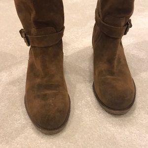J. Crew Shoes - J. Crew brown suede boots mid calf Size 8